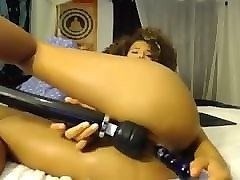 girl puts dildo deep inside pussy and ass - more on sugarcamgirls.com