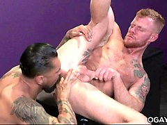 huge cocked tattooed latino men fucking hard